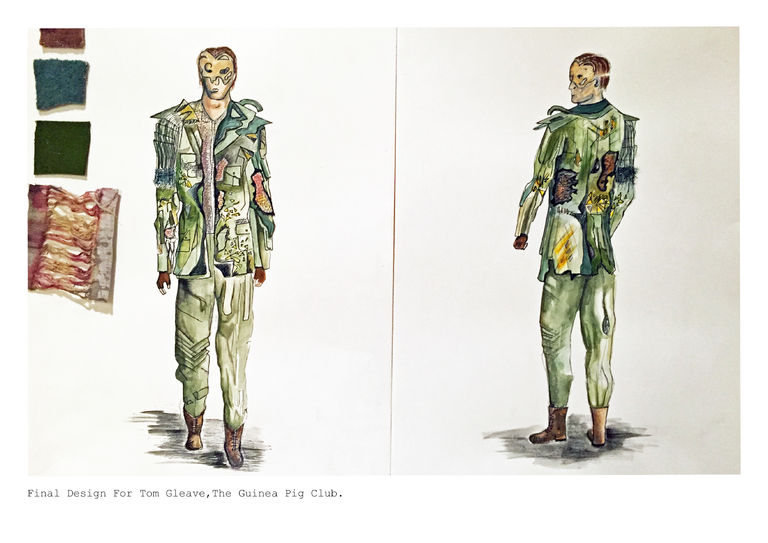 Character Design London : Emily davidson london college of fashion showtime