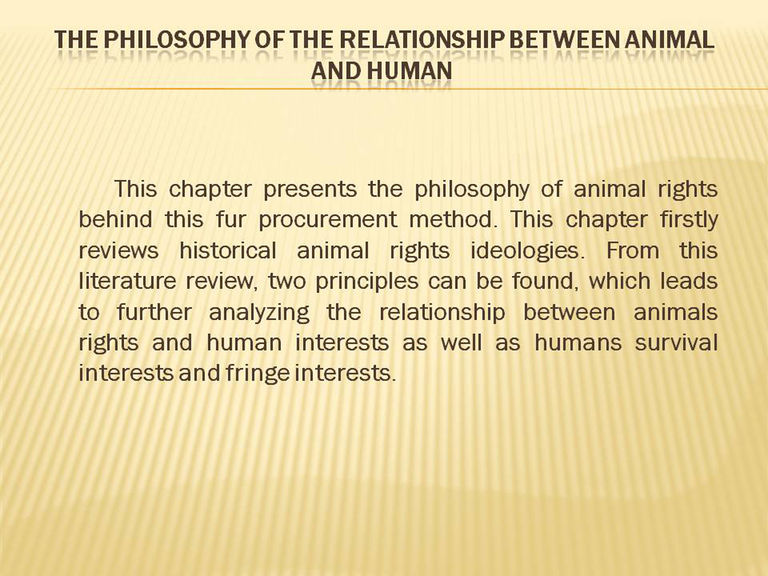 relationship between human and animal This resource page contains notes about theories and research on the bonding between humans and animals of the human-animal relationship has yet to be.