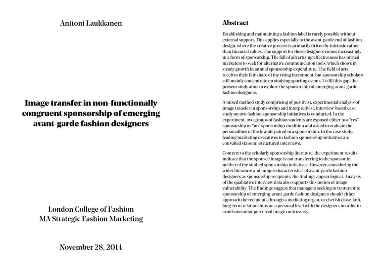 thesis about fashion marketing