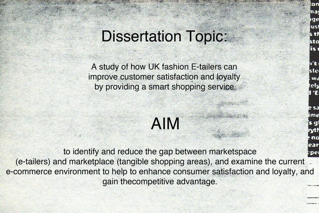 Buying a dissertation london